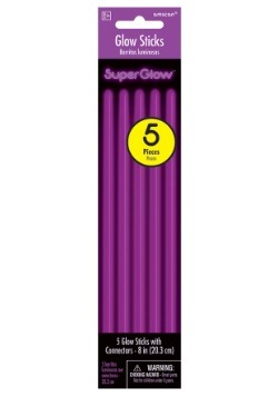 "Purple Glowsticks - 8"" Pack of 5"