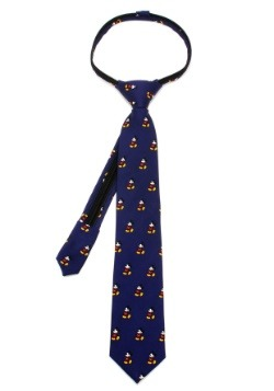 Mickey Mouse Pinstripe Boys' Zipper Tie