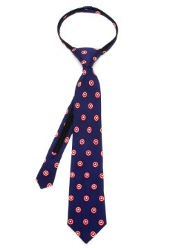 Captain America Shield Boys' Zipper Tie