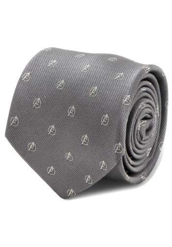 Avengers Gray Mens Tie