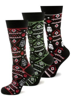 Star Wars Holiday Ugly Sweater Socks 3 Pair Gift Set
