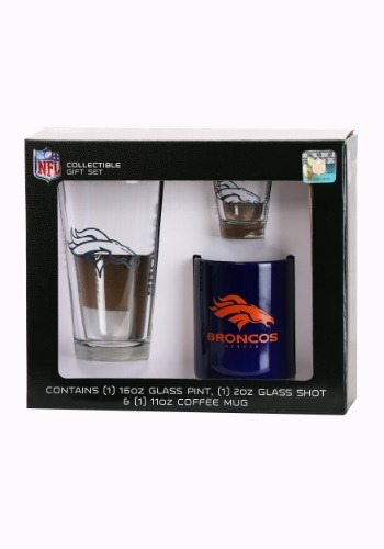 Denver Broncos 3PC Drinkware Gift Set
