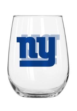 New York Giants 16oz Curved Glass