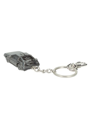 DELOREAN BACK TO THE FUTURE 3D METAL KEYCHAIN
