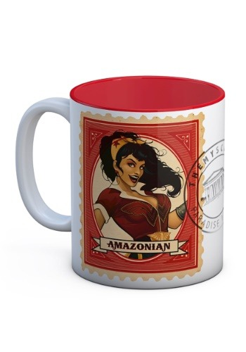 DC BOMBSHELLS WONDER WOMAN AMAZONIAN WHITE-RED CERAMIC MUG