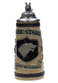 GAME OF THRONES -HOUSE STARK RELIEF CERAMIC STEIN