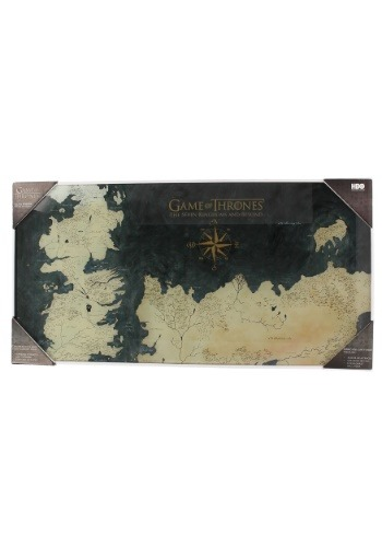 WESTEROS MAP GAME OF THRONES TEMPERED GLASS POSTER