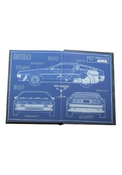 FLUX CAPACITOR BACK TO THE FUTURE NOTEBOOK WITH LIGHT alt 1