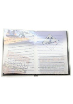 FLUX CAPACITOR BACK TO THE FUTURE NOTEBOOK WITH LIGHT alt 2