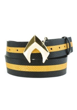Aquaman Logo Gold Buckle and Belt