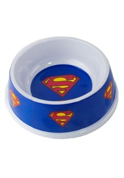 "Melamine Superman Shield Pet Bowl- 7.5"" (16OZ)"