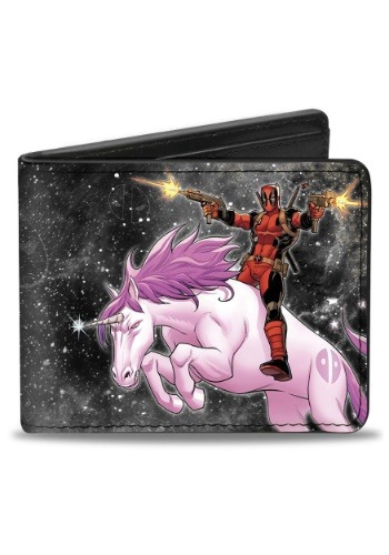 Deadpool Riding Unicorn Bi-Fold Wallet- Marvel