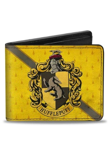 Harry Potter Hufflepuff Crest Bi-Fold Wallet
