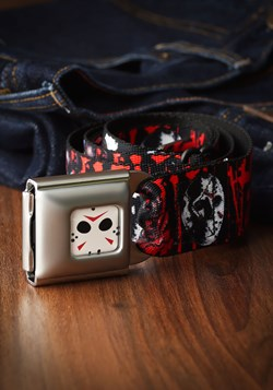 Friday the 13th Jason Mask Seatbelt Buckle Belt
