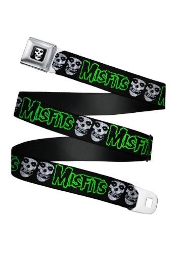 Misfits Fiend Skulls Seatbelt Buckle Belt