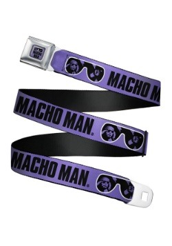 WWE Macho Man Randy Savage Sunglasses Seatbelt Buckle Belt
