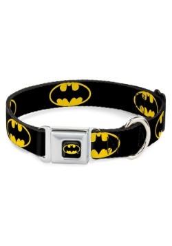 "Batman Logo Black Seatbelt Buckle Dog Color- 1"" Wide"