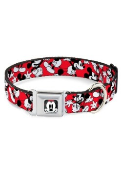 "Mickey Mouse Faces- Seatbelt Buckle Dog Collar- 1"" Wide"