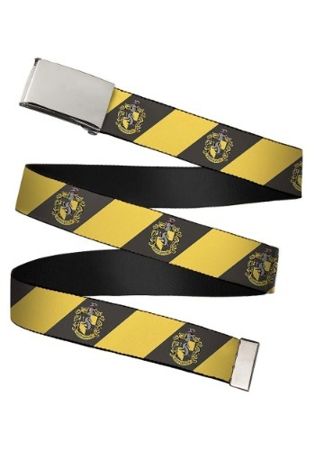 Harry Potter Hufflepuff Crest Chrome Buckle Web Belt update
