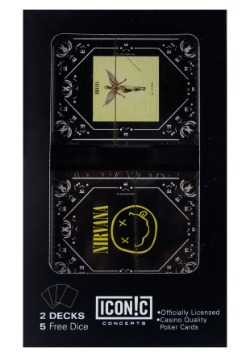 Nirvana In Utero Cover and Smiley Double Deck and Dice Set
