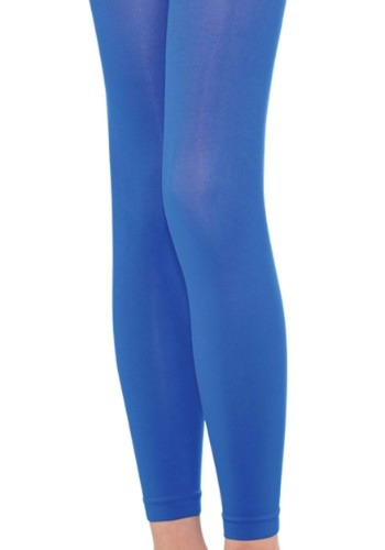Adult Blue Footless Tights