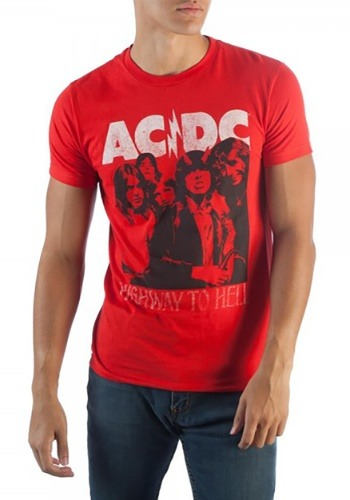 Mens AC/DC Highway To Hell Red T-Shirt