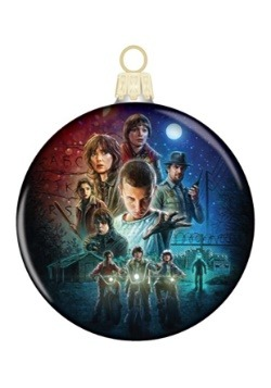 Stranger Things Kids Glass Disc Ornament
