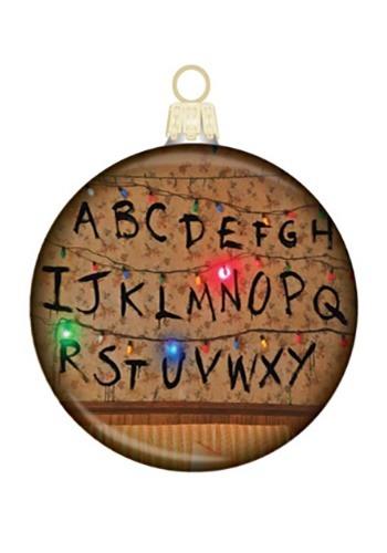 Stranger Things Glass Disc Ornament