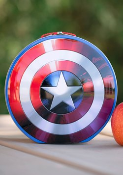 Marvel Captain America Shield Shaped Tin Tote
