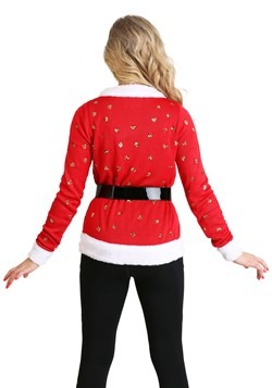 Tipsy Elves Santa Jacket Ugly Christmas Women's Cardigan Alt