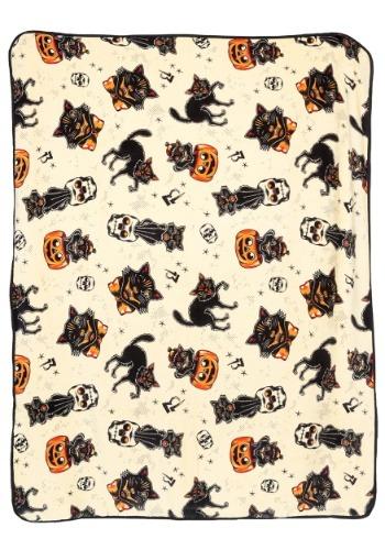 Sourpuss Black Cats Fleece Blanket