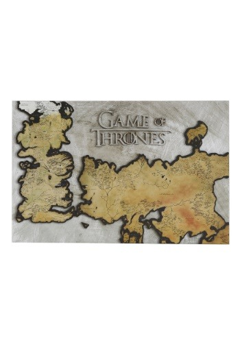 Game of Thrones Westeros Map Wall Décor