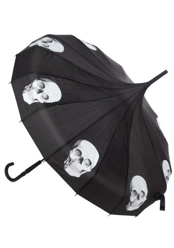 Sourpuss Clothing Skull Pagoda Umbrella