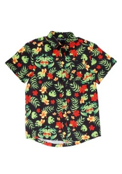 Sourpuss Tropicthulhu Guys Button Down Hawaiian Shirt