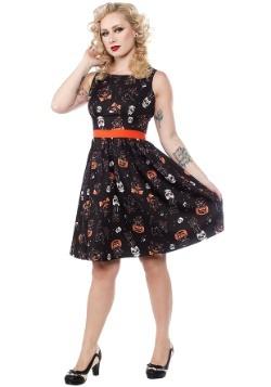 Sourpuss Clothing Black Cats Halloween Shift Dress