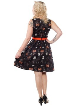 Sourpuss Clothing Black Cats Halloween Shift Dress-alt1