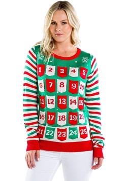 Women's Tipsy Elves Advent Calendar Ugly Christmas Sweater-1
