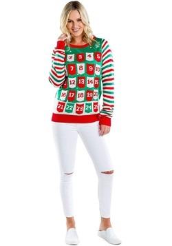 Women's Tipsy Elves Advent Calendar Ugly Christmas Sweater