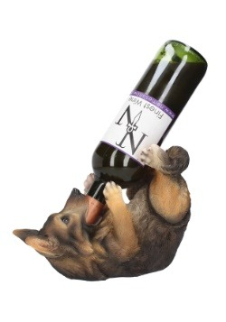 German Shepard Guzzlers Wine Bottle Holder 25 cm