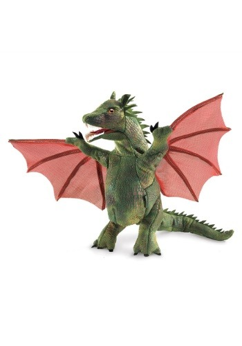 "Folkmanis Winged Dragon 9"" Puppet"