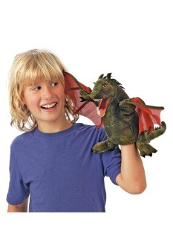 "Folkmanis Winged Dragon 9"" Puppet 3"