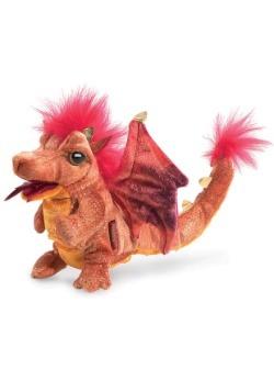 "Folkmanis Fire Dragon 6"" Puppet"