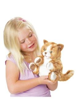"""Folkmanis Orange Tabby Kitten 8"""" Puppet Alt1"""