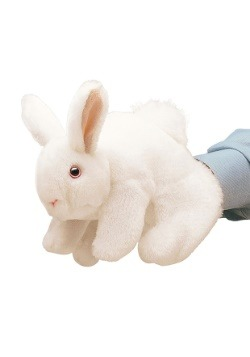 "Folkmanis White Bunny Rabbit 8"" Puppet"