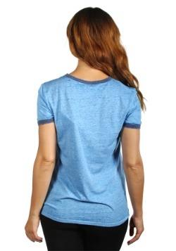 Women's Disney Stitch Aloha Blue Ringer T-Shirt Back