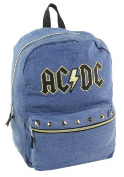 "AC/DC Blue w/ Gold Trim 17"" Backpack"