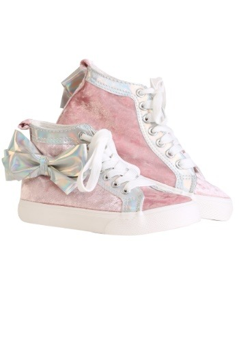 JoJo Siwa Pink High Top Sneakers w/ Bow