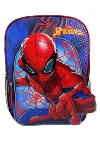 Kids Spiderman Blue Backpack