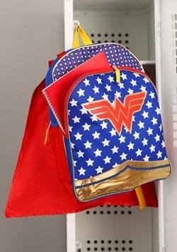 Wonder Woman Girls Backpack w/ Detachable Cape