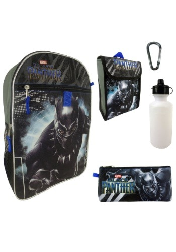 Black Panther 5 in 1 Backpack Set